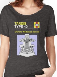 TARDIS - Type 40 - Owners' Manual Women's Relaxed Fit T-Shirt