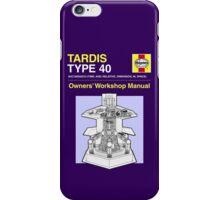 TARDIS - Type 40 - Owners' Manual iPhone Case/Skin