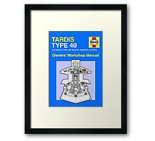 TARDIS - Type 40 - Owners' Manual Framed Print