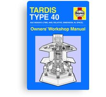 TARDIS - Type 40 - Owners' Manual Canvas Print