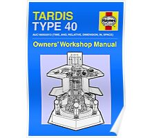 TARDIS - Type 40 - Owners' Manual Poster