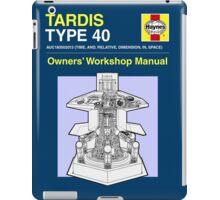 TARDIS - Type 40 - Owners' Manual iPad Case/Skin