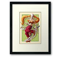 Girl with sword Framed Print