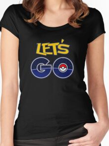 let's go pokemon Women's Fitted Scoop T-Shirt