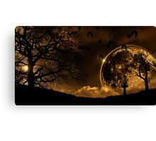 Dark moon Canvas Print