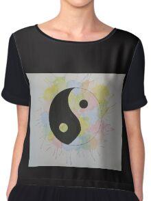 yin yang  Chiffon Top