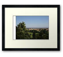 View of the Bristol Channel from Dunster Castle Framed Print