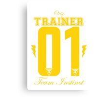 Team Instinct Trainer Canvas Print