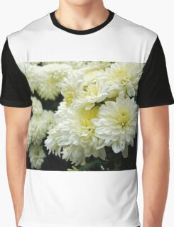 White Mums II Graphic T-Shirt
