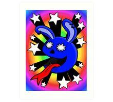Star-struck Rabbit Art Print