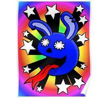 Star-struck Rabbit Poster