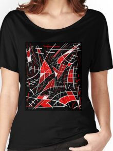 Red and black abstraction  Women's Relaxed Fit T-Shirt