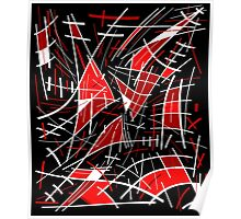Red and black abstraction  Poster