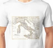 Vintage Map of Italy (1850) Unisex T-Shirt