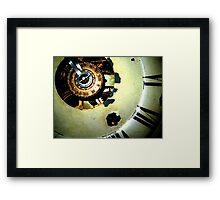 clockwork v3 Framed Print