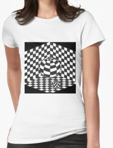 3d optical art Womens Fitted T-Shirt