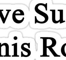 Love Sucks Tennis Rocks Sticker