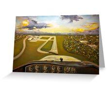 landing Greeting Card