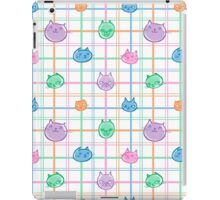 Plaid Pastel Cats iPad Case/Skin