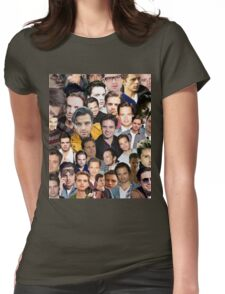 sebastian stan collage Womens Fitted T-Shirt