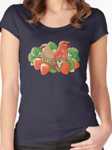 Strawberry finches Women's Fitted Scoop T-Shirt