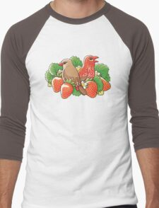Strawberry finches Men's Baseball ¾ T-Shirt