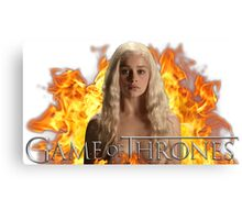 Games Of Thrones Fire Canvas Print