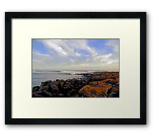 On the Rocks at Port Fairy Framed Print