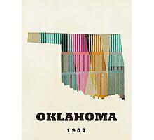 oklahoma state map Photographic Print