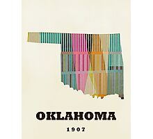 oklahoma state map Photographic Print