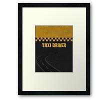 Taxi Driver T Shirt Framed Print