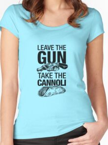 Leave the Gun Take the Cannoli T-shirt Women's Fitted Scoop T-Shirt