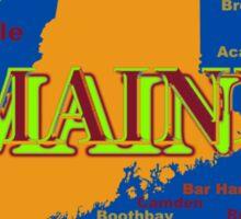 Maine State Pride Map Silhouette  Sticker
