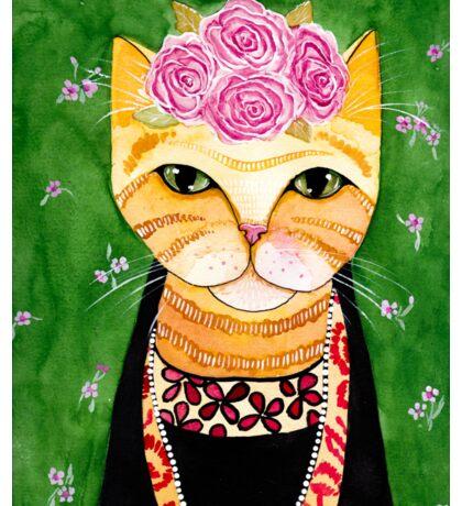 Frida Catlo in Orange Sticker