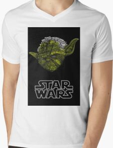 MASTER STAR WAR Mens V-Neck T-Shirt