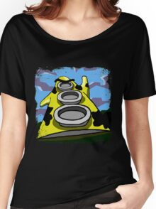 Mooniac Mansion - Yellow Tentacle Women's Relaxed Fit T-Shirt