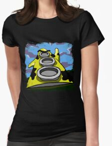Mooniac Mansion - Yellow Tentacle Womens Fitted T-Shirt
