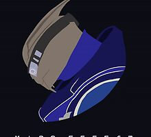 Mass Effect Garrus Vakarian Minimalist by quidvis