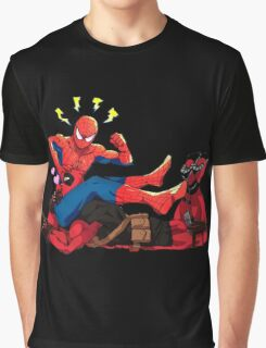 DEADPOOL SUCK SPIDERMAN Graphic T-Shirt