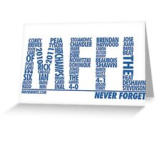 Mavs Fanatic - Never Forget Greeting Card