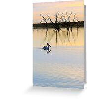 Peace and Quiet on the Lake Greeting Card