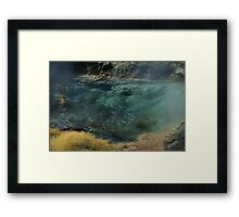 Bubbling Hot Springs Framed Print