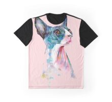 cat pink Graphic T-Shirt