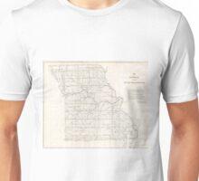 Vintage Map of Missouri (1850) Unisex T-Shirt