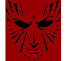 Rachel Summers (Black on Red) Photographic Print