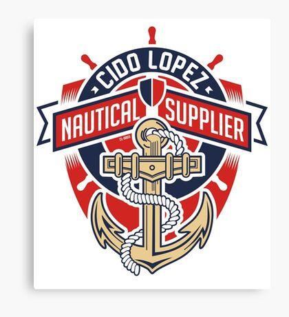Nautical Supplier Graphic Art Canvas Print