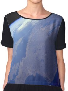 Denmark + Southern Sweden From Space Chiffon Top