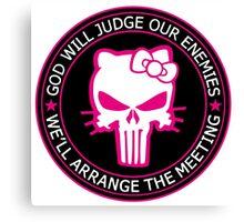 Punisher Kitty Badge Canvas Print