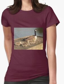 Birds Womens Fitted T-Shirt
