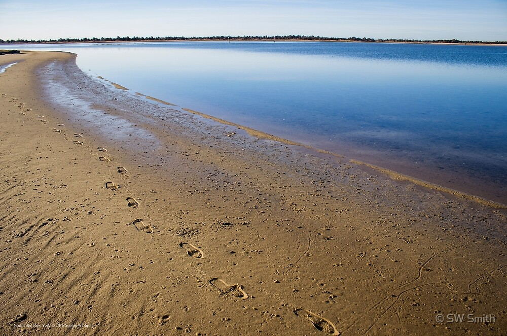 My Footprints In Sand | Northville, New York by © Sophie W. Smith